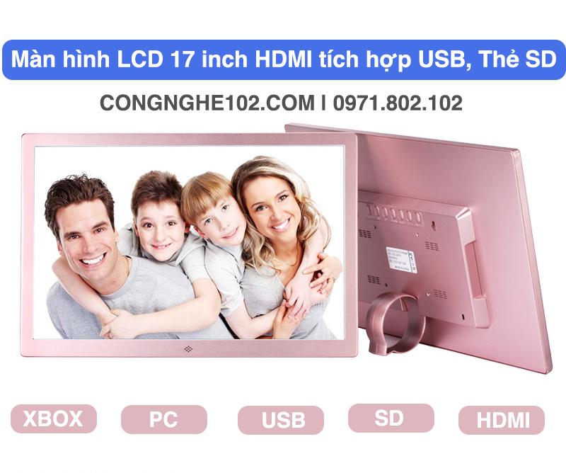 màn hình 17 inch hdmi usb cho oto