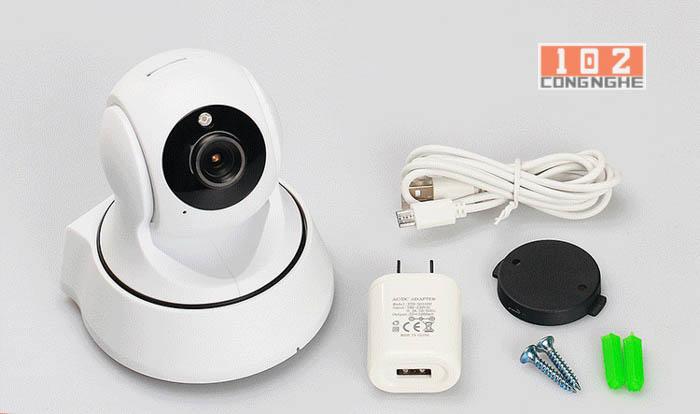 Trọn bộ sản phẩm Camera IP Wifi 360 Y960 tại CongNghe102.com