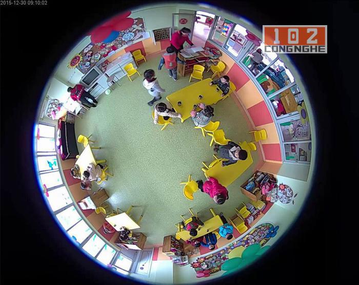 Camera IP Wifi V380 VR xem toàn cảnh 360 độ ở nhà trẻ