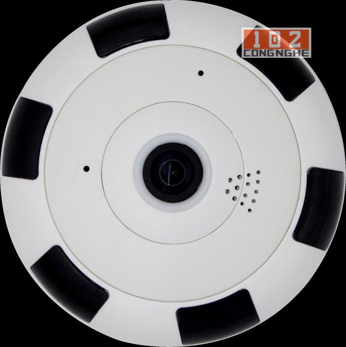 Camera IP Wifi V380 VR 2  thiết kết 2 màu đen trắng năng đông và sáng tạo