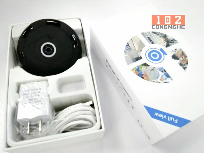 trọn bộ sản phẩm Camera IP Wifi V380 VR 2