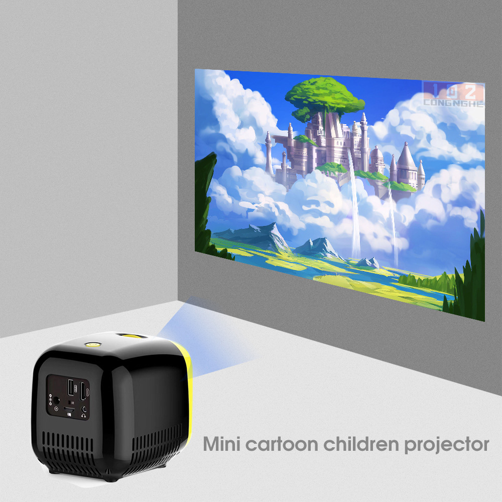 Máy chiếu mini LED HiBeamer L1 cho trẻ em 480x320p