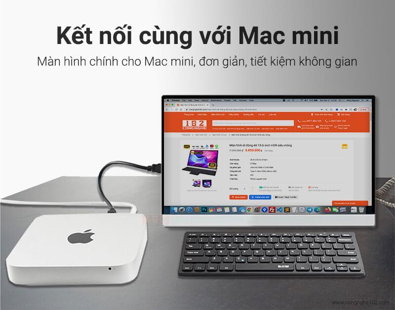 màn hình di động 4K làm màn hình chính cho Mac mini