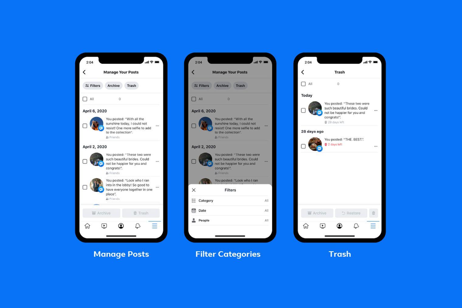 Facebook ra mắt chức năng mới giúp dễ dàng xóa hàng loạt bài đăng cũ đáng xấu hổ của bạn