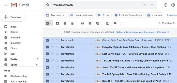 Cách thoát khỏi email quảng cáo trên Gmail