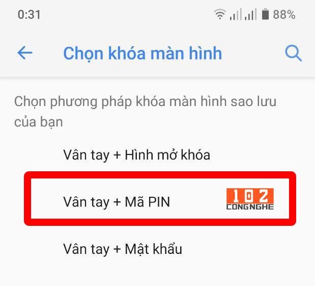 Hướng dẫn cài đặt mật khẩu vân tay cho điện thoại Vmart Live