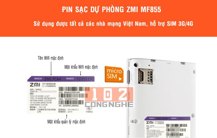 PIN sạc dự phòng ZMI M855