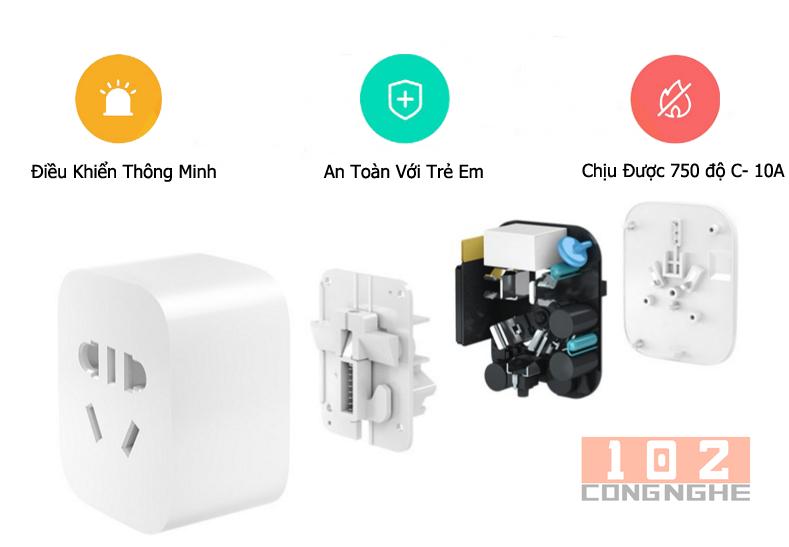 Ổ cắm điện thông minh Xiaomi an toàn với cháy nổ