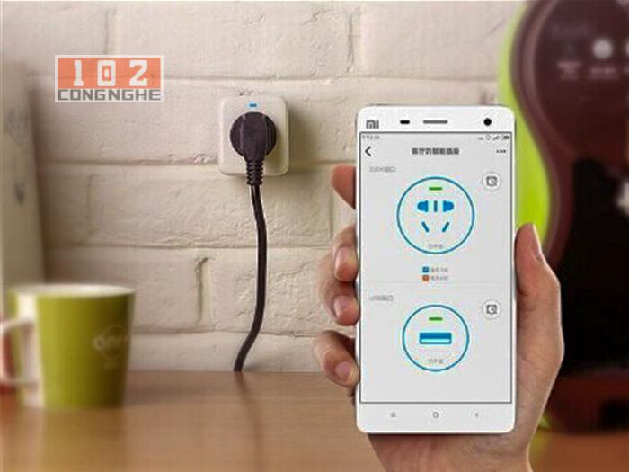 Ổ cắm điện thông minh Xiaomi kết nối điện thoại dễ dàng